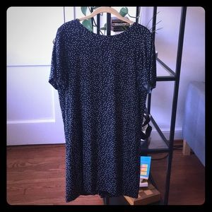 Madewell zip-back dress in dot scatter